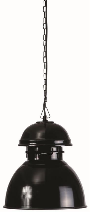 HK Living Industriële warehouse lamp M, zwart
