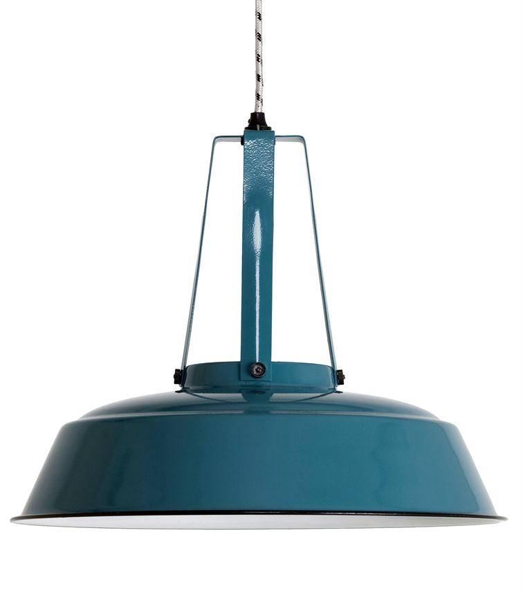 HK Living Industriële workshop lamp L petrol