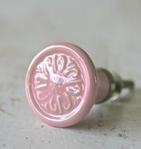 Harveys Knop rond, roze 3,2cm