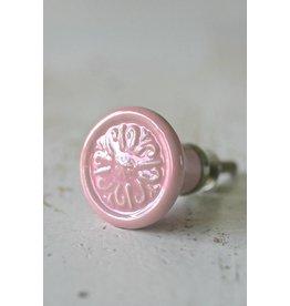 Harveys Knop rond, roze