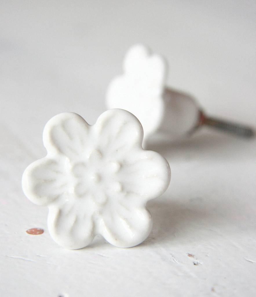 Harveys Knop bloem wit 4,2cm