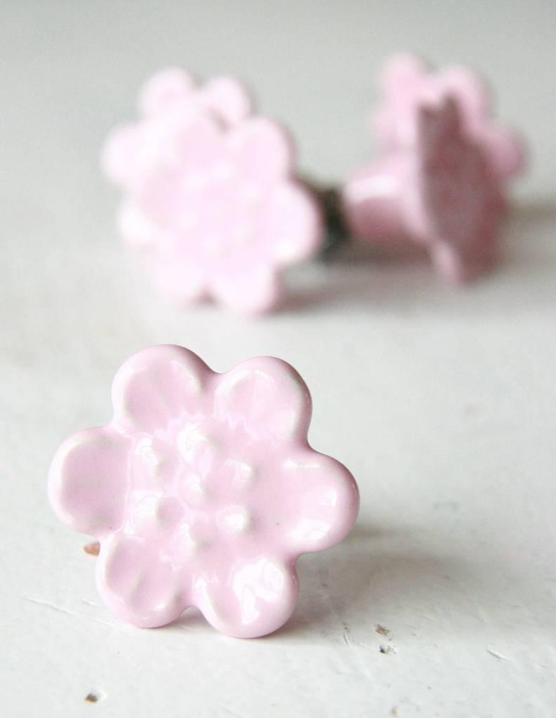 Harveys Knop bloem roze 4,2cm