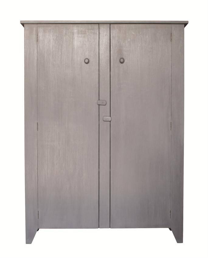 HK Living Kast Amerikaanse stijl 140x103x35cm ,grijs