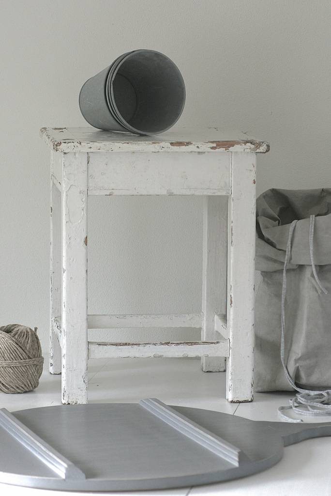 Oud Krukje 40x40x49cm, wit