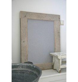 Prikbord steigerhout klein (S) grijs