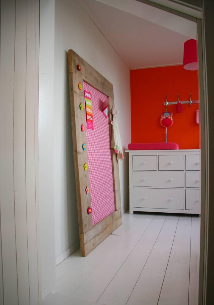 Strandtas Extra Groot : Prikbord steigerhout extra groot xl cm roze