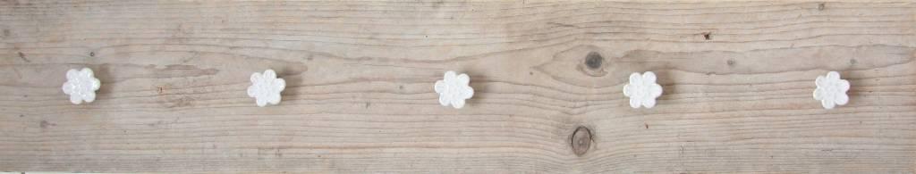 Kapstok steigerhout bloem 100x20cm, naturel