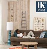 HK Living Ladder decoratie hout 217x56-33cm, grijs