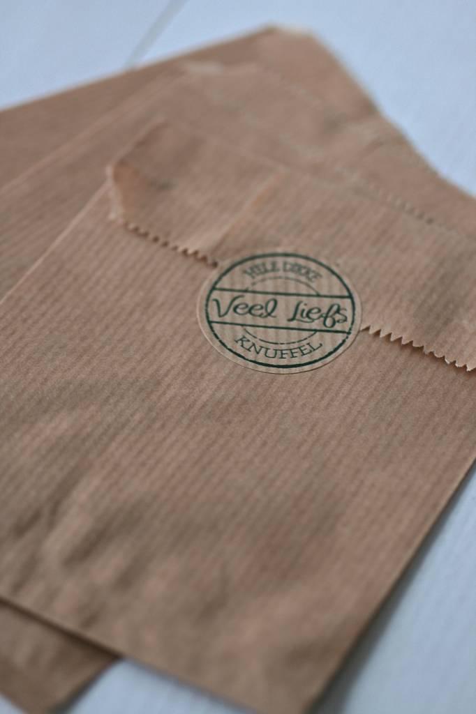 Papieren craft zakjes 10x15cm bruin, 10 stuks
