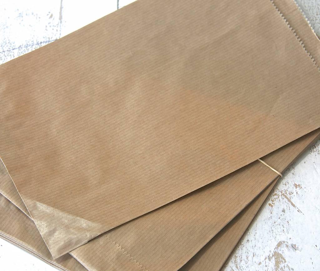 Papieren craft zakjes 17x25cm bruin 10 stuks label123 for Papieren kraft zakjes