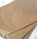 Papieren craft zakjes 15x21cm bruin, 10 stuks