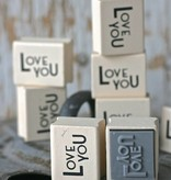East of India Stempeltje Love You 3x2,5cm