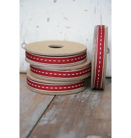 East of India Lint steek wit-rood small