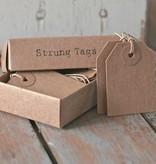 East of India Labeltjes / 'tags' in een doosje, 16stuks
