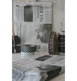 Papieren newspaper zakjes 13x19cm, 5 stuks