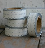 East of India Masking Tape Happy Birthday scallop edge