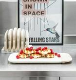 HK Living Bordenrek 'halfje wit' met 6 broodplankjes