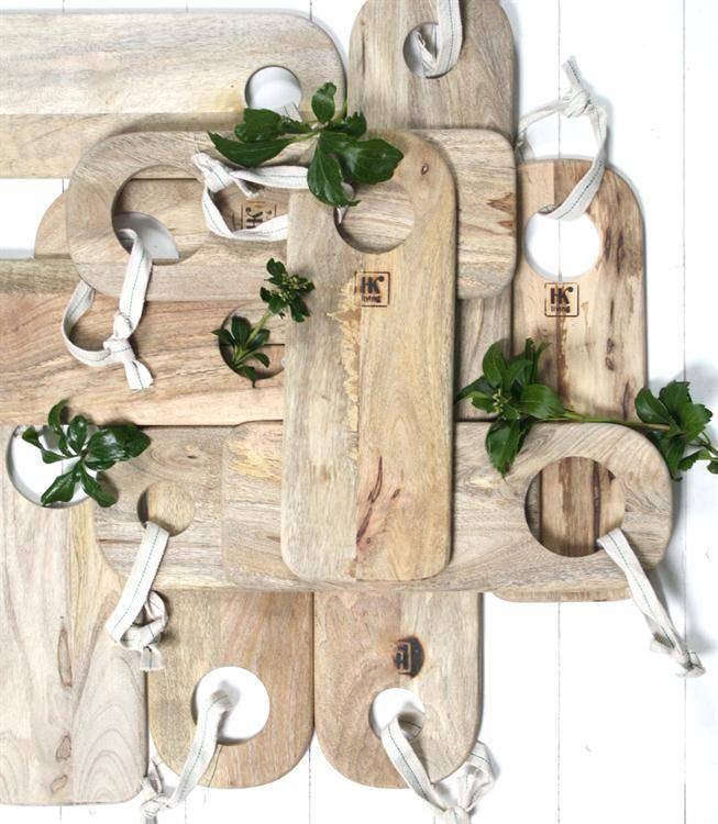 HK Living broodplanken mango 40x5cm, set van 3