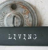 Braxton Metalen tekstbord Living zwart
