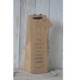 Wijntasje karton bruin