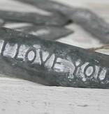 Braxton Label zink I love You, 12,5x3cm