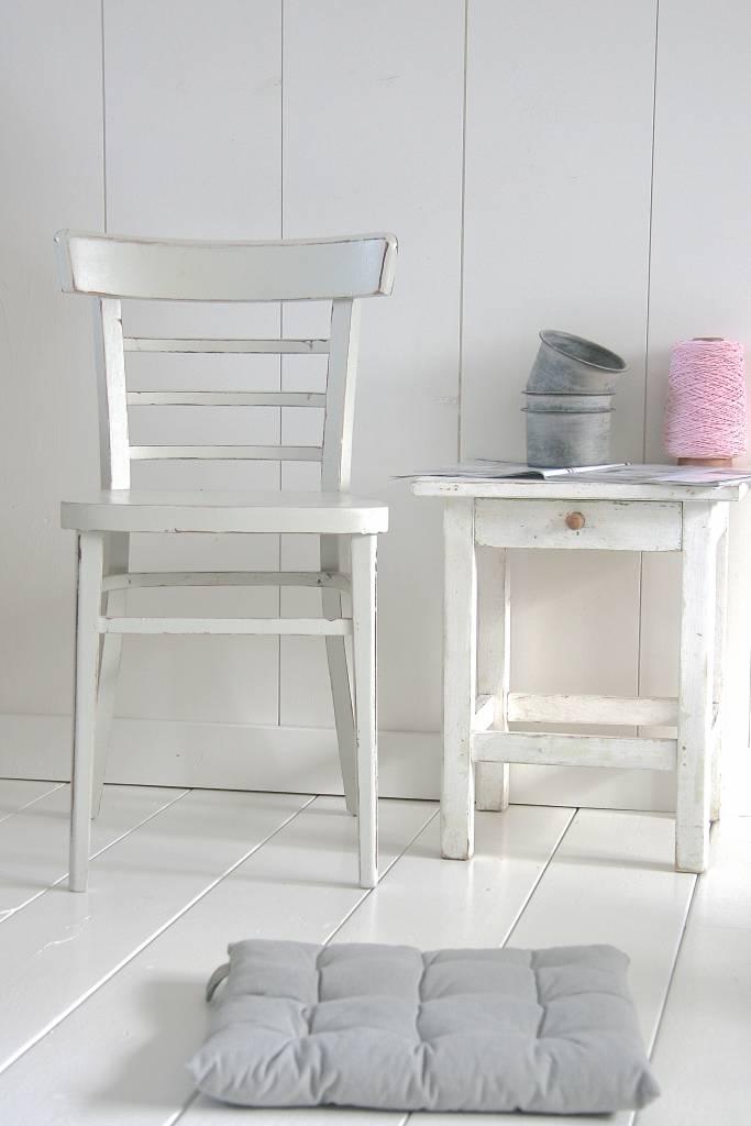 Oude brocante stoel 39x43x46/79cm, grijs