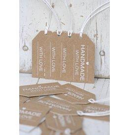 Label karton Handmade With Love