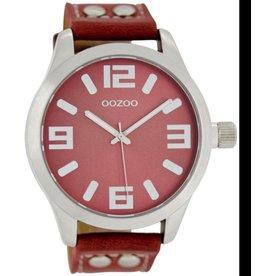 OOZOO horloges Timepieces C1059 koraal rood