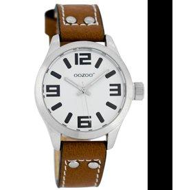 OOZOO horloges Junior JR156 bruin/wit