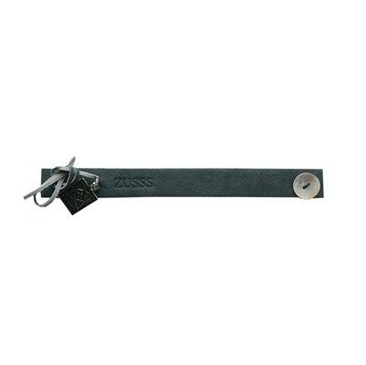 Zusss Armband leer Small 2x22cm, grijs/blauw