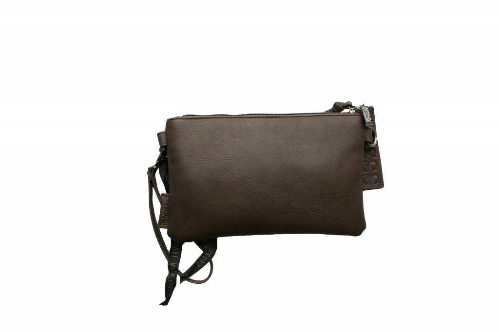 Zusss Basic tas Small 15x2x25cm, taupe