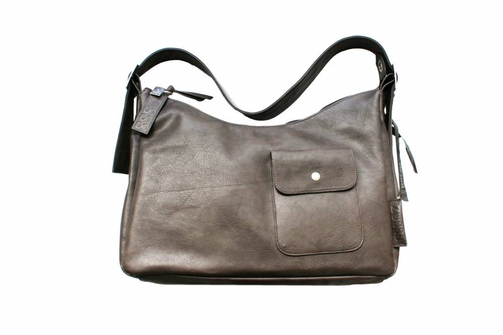 Zusss Basic tas Medium 35x12x45cm, taupe