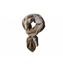 Zusss Sjaal kleurendip, camel/krijt