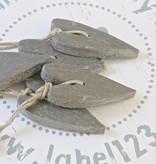 Puur Zeep hart XL 7x14cm, grijs