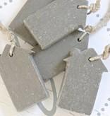 Puur Zeep huisje XL 5,5x10,5cm, grijs