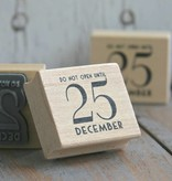 East of India Stempel Do not open until 25 december 3,5x4cm
