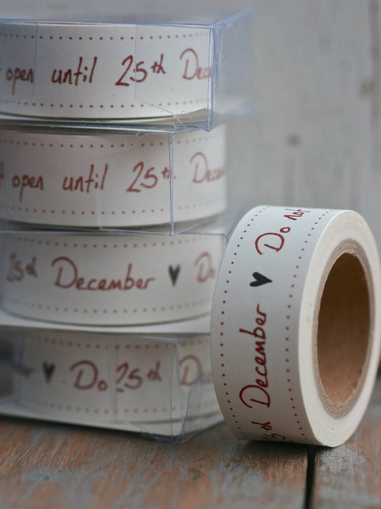 East of India Masking Tape Do not open until 25 december, 10 meter