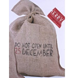 East of India Jute kerstzak Do not open…...