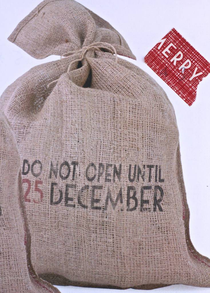 East of India Jute kerstzak Do not open until 25 december, 50x75cm