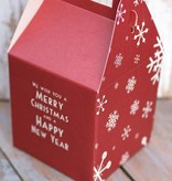 East of India Inpakdoosje We wish you a Merry Christmas, 10x17cm