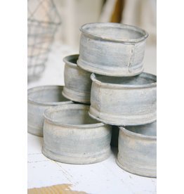 Metalen (waxinelicht) potjes zink klein