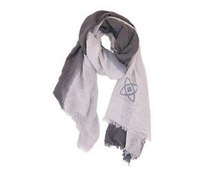 Zusss sjaal kleurendip taupe l grijs label