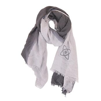Zusss sjaal kleurendip taupe-l.grijs