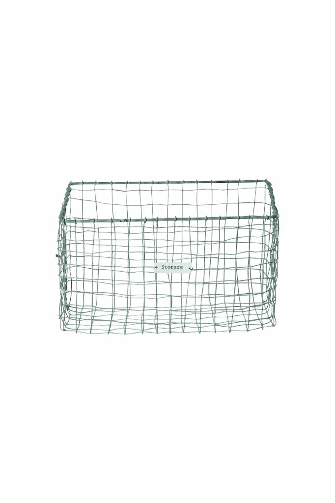 House Doctor Opbergmand 'Storage basket vintage', 18x18x30cm, zink