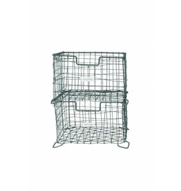 House Doctor zinken opbergmand 'Storage basket vintage' stapelbaar