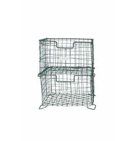 House Doctor zinken opbergmand 'Storage basket vintage' stapelbaar