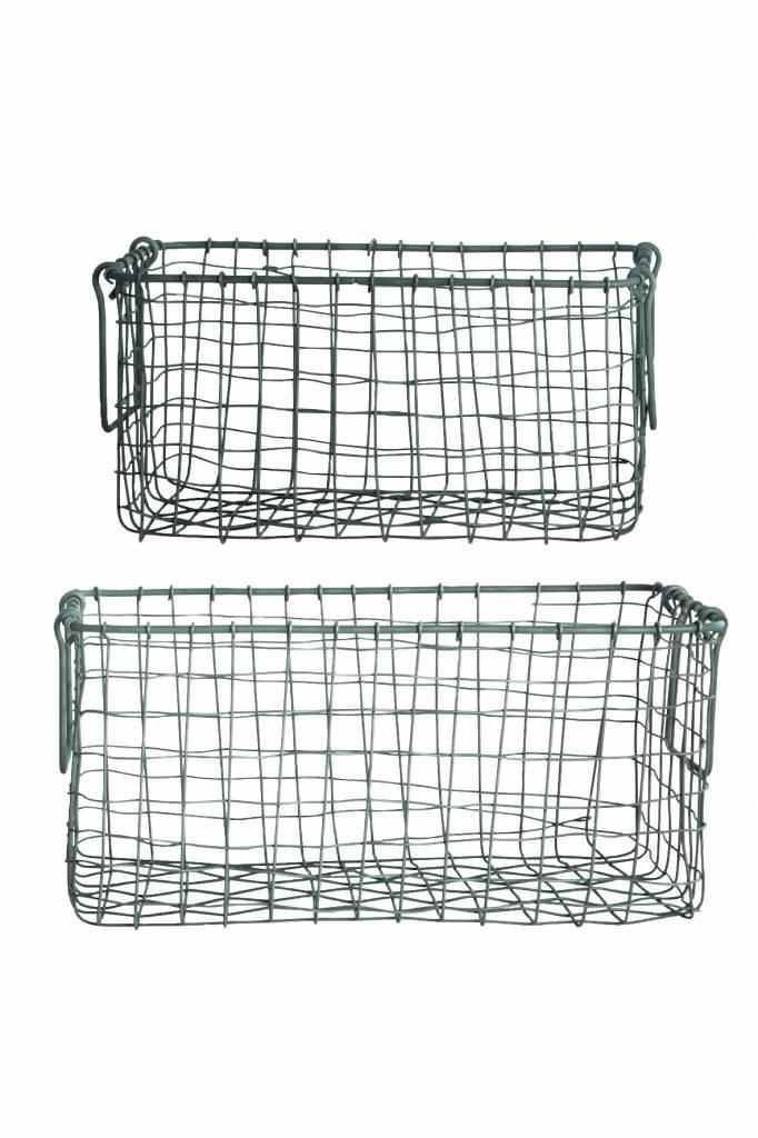 House Doctor Opbergmand 'Storage Wire', 29x16x15cm,