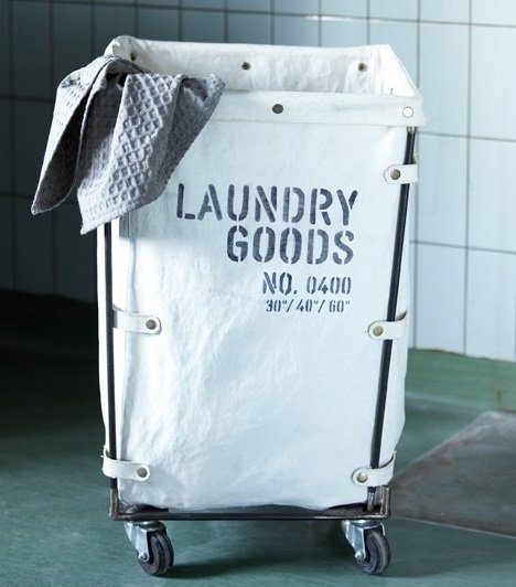 House Doctor Wasmand 'Laundry goods', 40x40x70cm, canvas