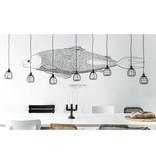 HK Living Lab lamp hanglamp zwart met plafondkapje
