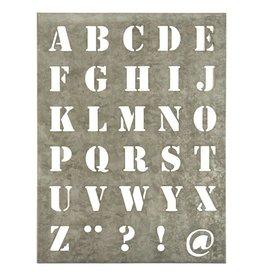 IB Laursen Sjabloon letter XL, zink